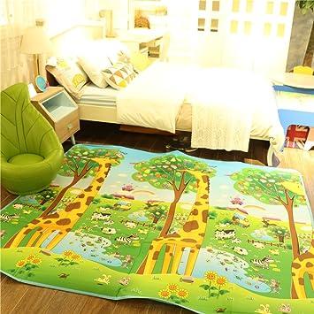 Golden Rule Alfombra para niños suave para jugar niños y bebés lados dobles diseño animal resistente al agua 200X180CM: Amazon.es: Juguetes y juegos