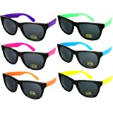 Edge I-Wear Neon Party Sunglasses with CPSIA certified-Lead(Pb) Content Free and 100% UV Protection (Made in Taiwan)