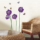 Walplus - Adesivi decorativi da parete, colore: Viola