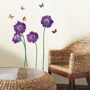 Colori Decorativi Per Pareti.Walplus Adesivi Decorativi Da Parete Colore Viola Amazon It