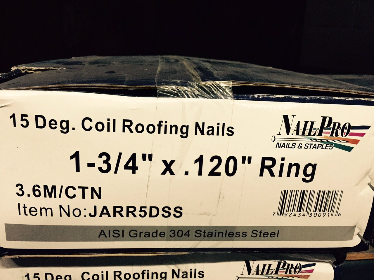 NailPro 1 3/4 Inch By 0.120   15 Degree Wire Coil   Stainless Steel   Ring  Shank Roofing Nail 3600 Pc. / CTN   Collated Roofing Nails   Amazon.com