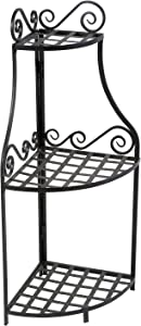 Panacea Products Forged Corner Plant Stand, Black