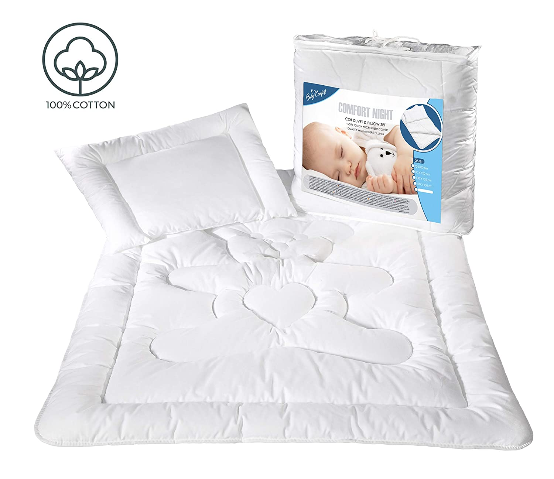 Kissen F/üllung Set 135/x 100/cm 100/% Baumwolle OPT Bettbezug f/ür Kinderbetten 8
