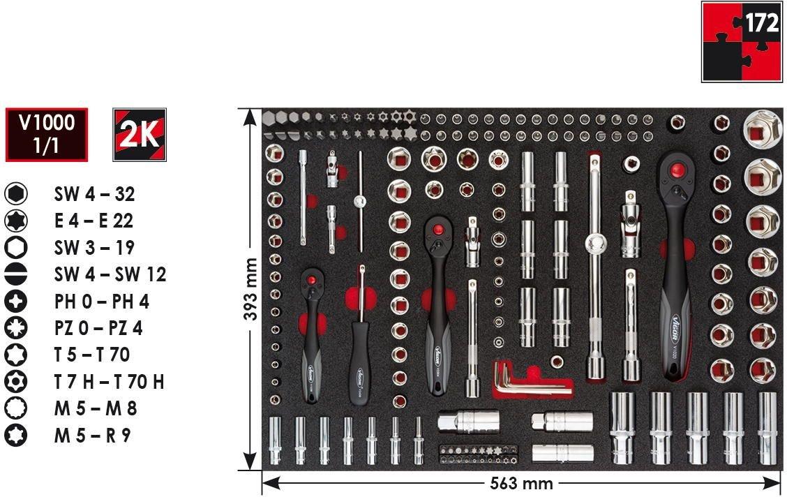 Vigor Steckschl/üssel-Einsatz 1//2 Zoll 1 St/ück Schl/üsselweite /22 mm V2568
