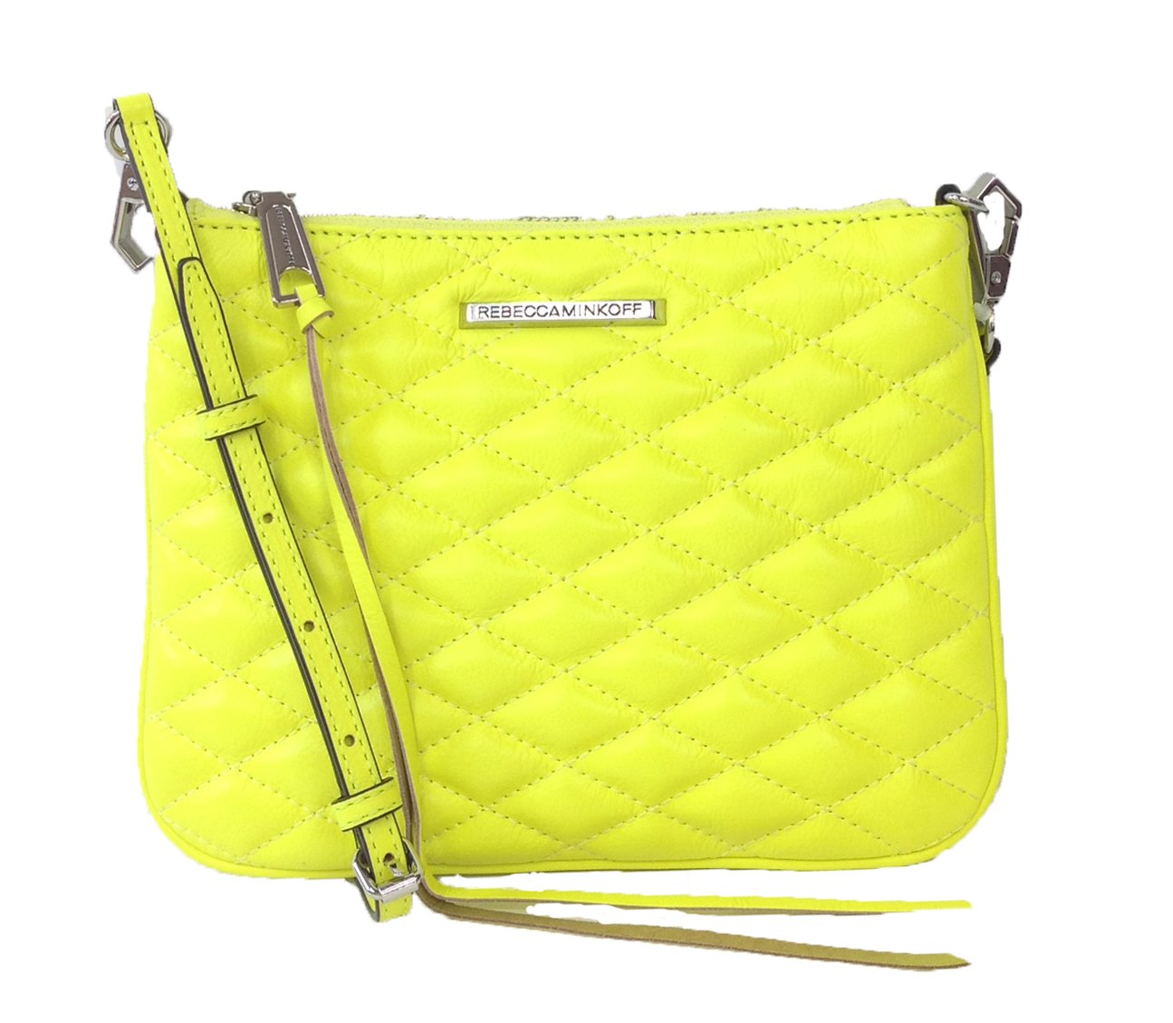 Rebecca Minkoff Love Kerry Quilted Leather Crossbody, Electric Yellow