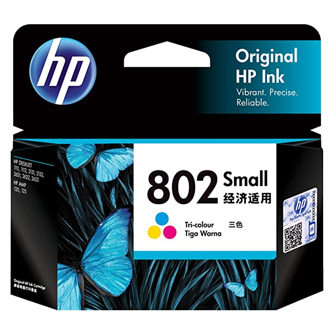HP 802 Small Ink Cartridge   Tri color Ink Cartridges