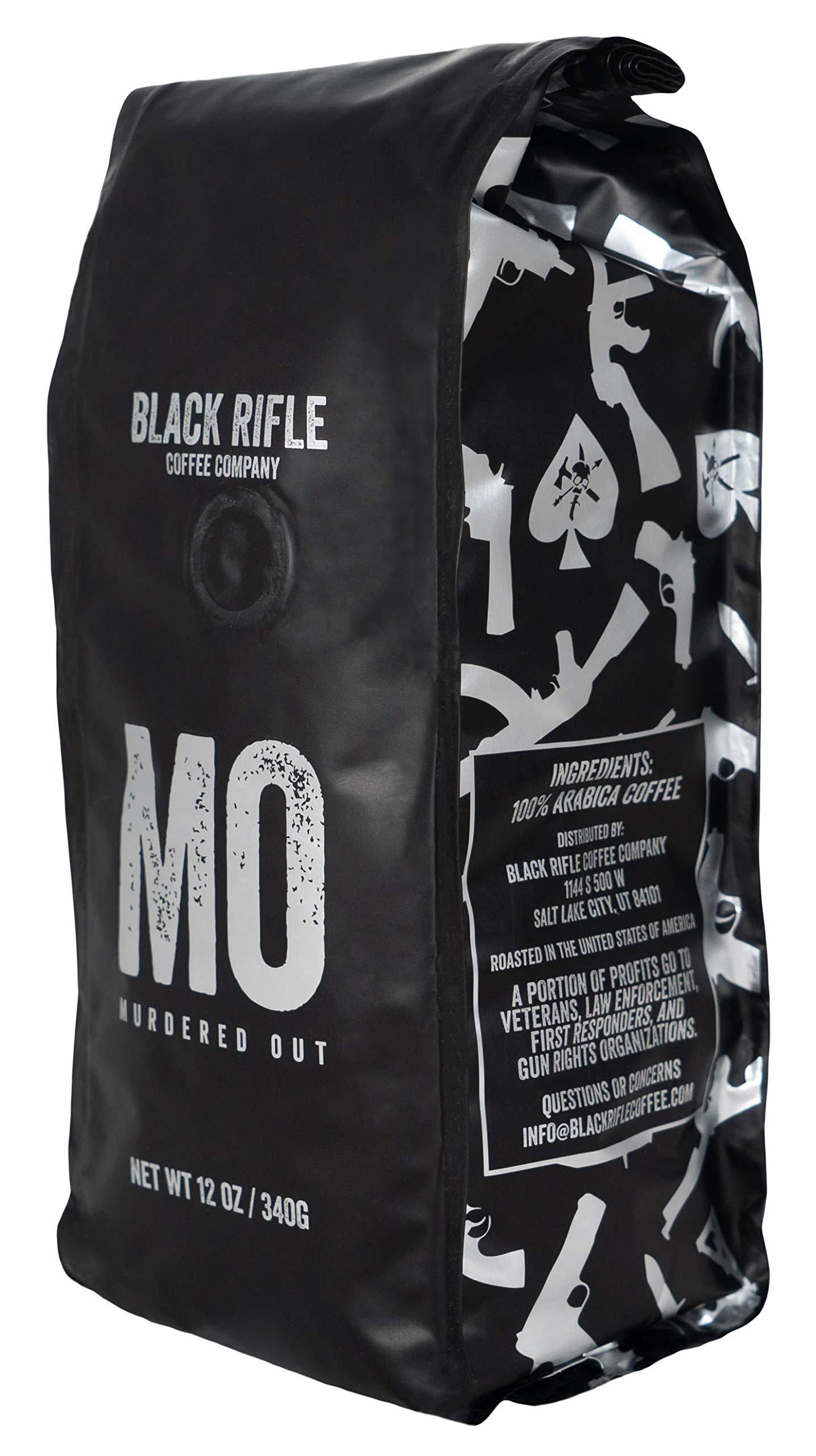 Black Rifle Coffee Company Murdered Out Dark Roast Ground Coffee, 12 Ounce Bag by Black Rifle Coffee Company
