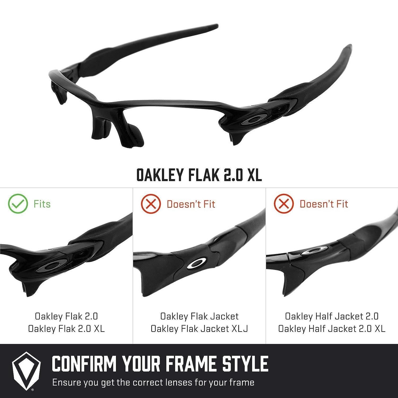 c4c54d51c1 Amazon.com  Revant Polarized Replacement Lenses for Oakley Flak 2.0 XL  Vented Elite Black Chrome MirrorShield  Sports   Outdoors