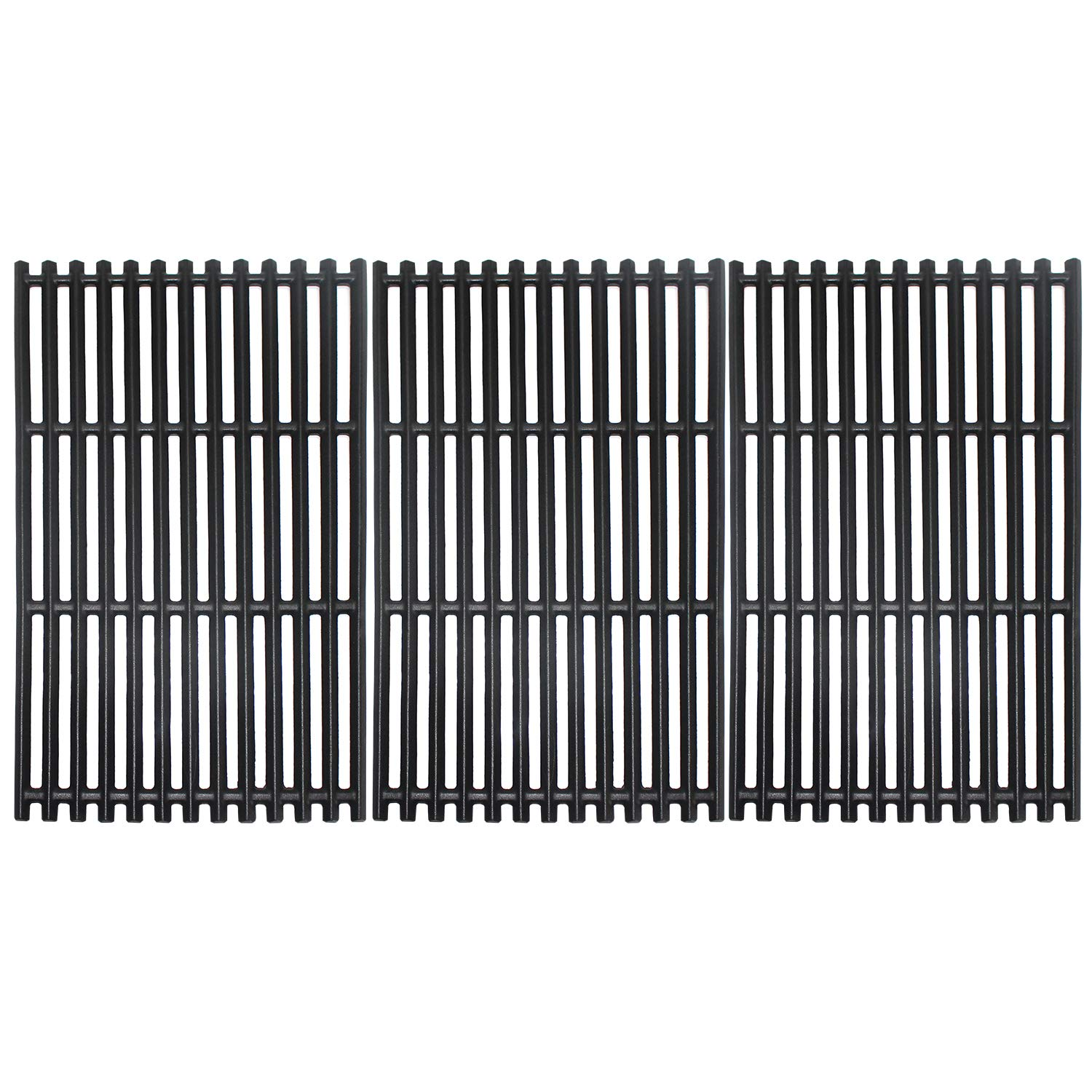 MikeGarden 17 Inch Grates G533-0009-W1A for Charbroil 463276016, 463242715, 463242716, Walmart # 555179228, 466242715, 466242815,17 X 28 1/2'' Matte Enamel Cast Iron Grates by MikeGarden