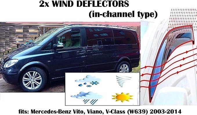 Amazon.es: Mrp - Juego de 2 deflectores de Viento para Mercedes Benz Vito Viano V Clase W639 Deflectores de Ventana | 2003 2004 2005 2006 2007 2008 2009 2010 2011 2012 2013 2014