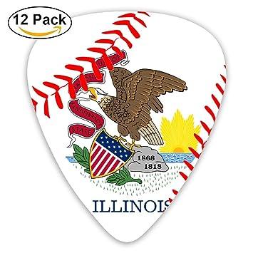 Púas para guitarra de béisbol, diseño de la bandera del Estado de Illinois, 351 formas clásicas, ...