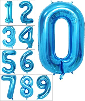 40 Giant Foil Number Balloons Air Glitz Large Birthday Party Wedding Decoration