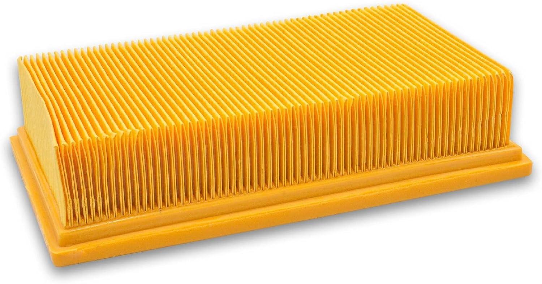 2607432033 vhbw Flachfaltenfilter Filter f/ür Staubsauger Saugroboter wie Bosch 2 607 432 034