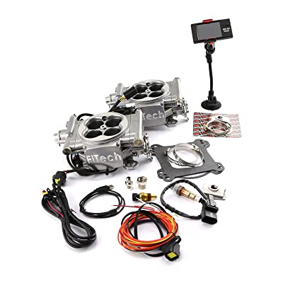 FITech Fuel Injection 30061 Go EFI 2x4 Dual Quad Kit Up to 625 HP Normally Aspir: Automotive