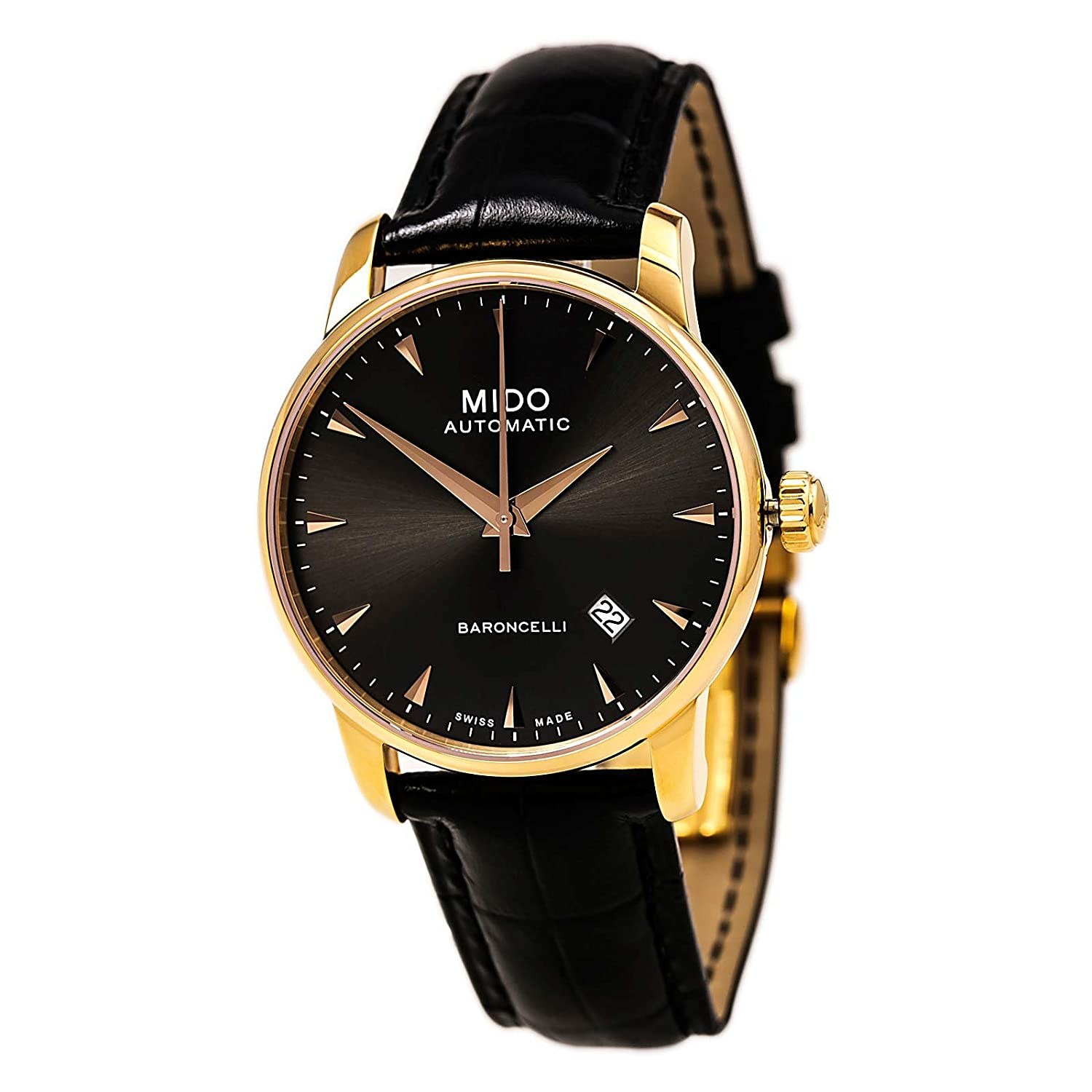 Amazon.com: Mido Mens Watches Baroncelli Automatic M8600.3.13.4 - 2 3: Watches