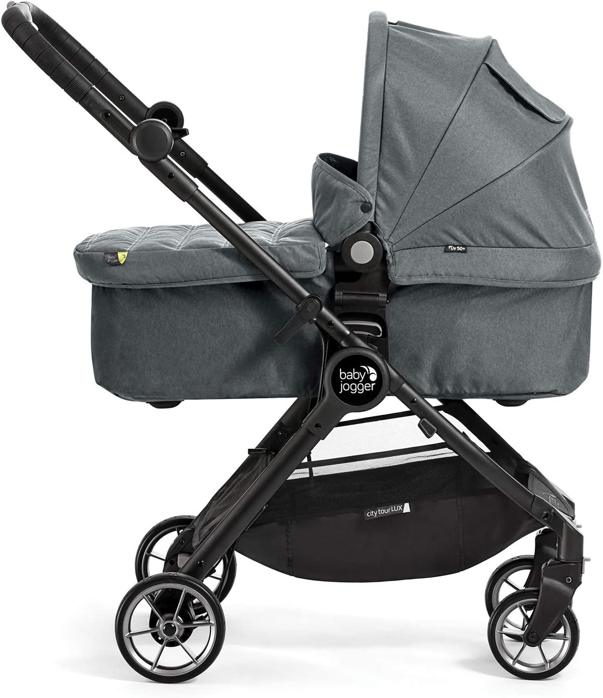 Baby Jogger 2044257 Passeggino e navicella 2 in 1 Baby Jogger City Tour LUX colore: Grigio leggero pieghevole e portatile