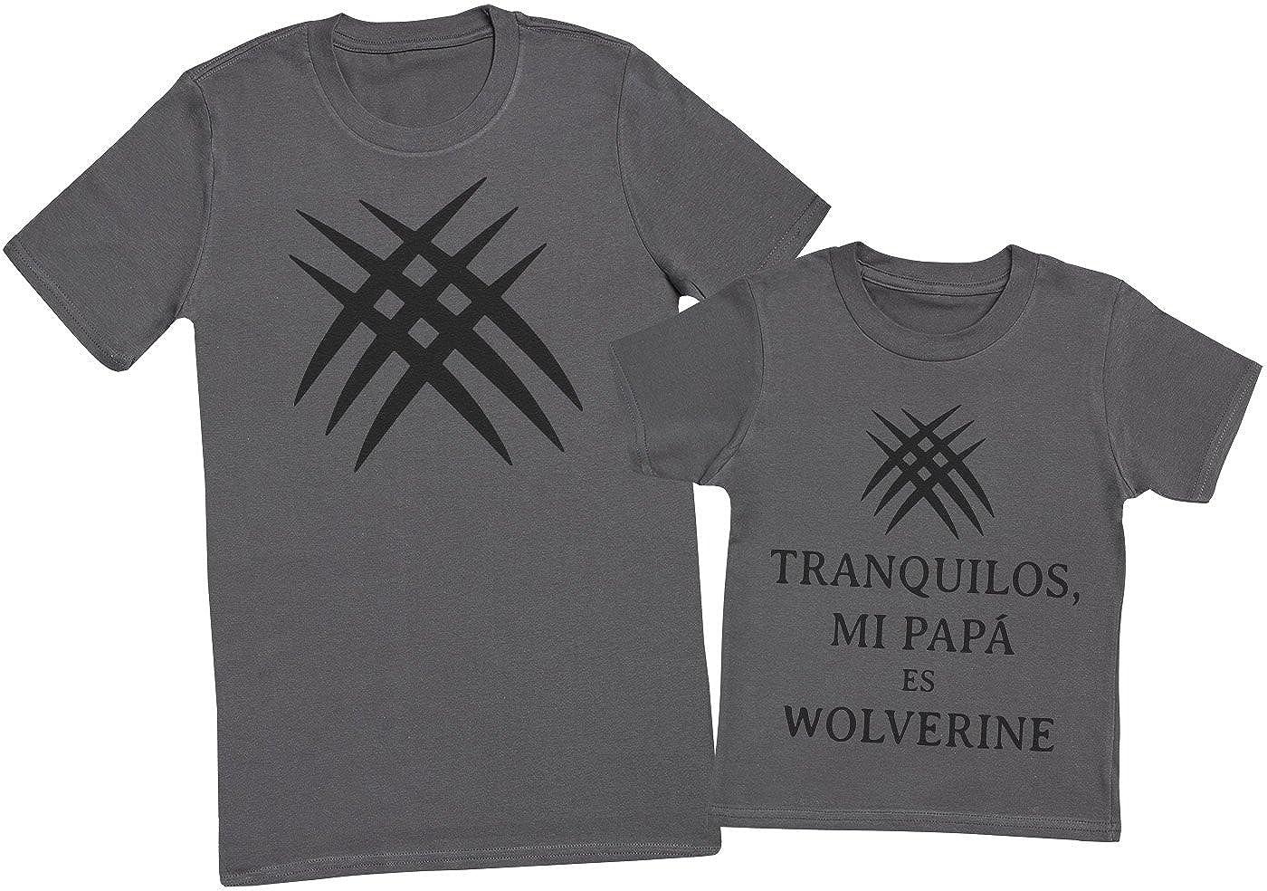 Zarlivia Clothing Tranquilos Mi Papá ES Wolverine - Regalo para Padres e Hijos - Camiseta de Niño y Camiseta de Hombre: Amazon.es: Ropa y accesorios