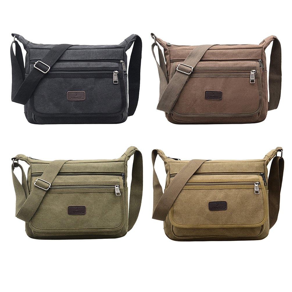 39875a9fd6eb Fabuxry Casual Canvas Shoulder Bags Flap Messenger Bag Cross Body Handbags  Purses