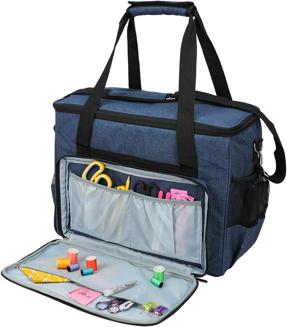 TOOGOO Sewing Machine Storage Organizer Sewing Machine Bag Travel Tote Bag for Most Standard Sewing Machines and Accessories Gray