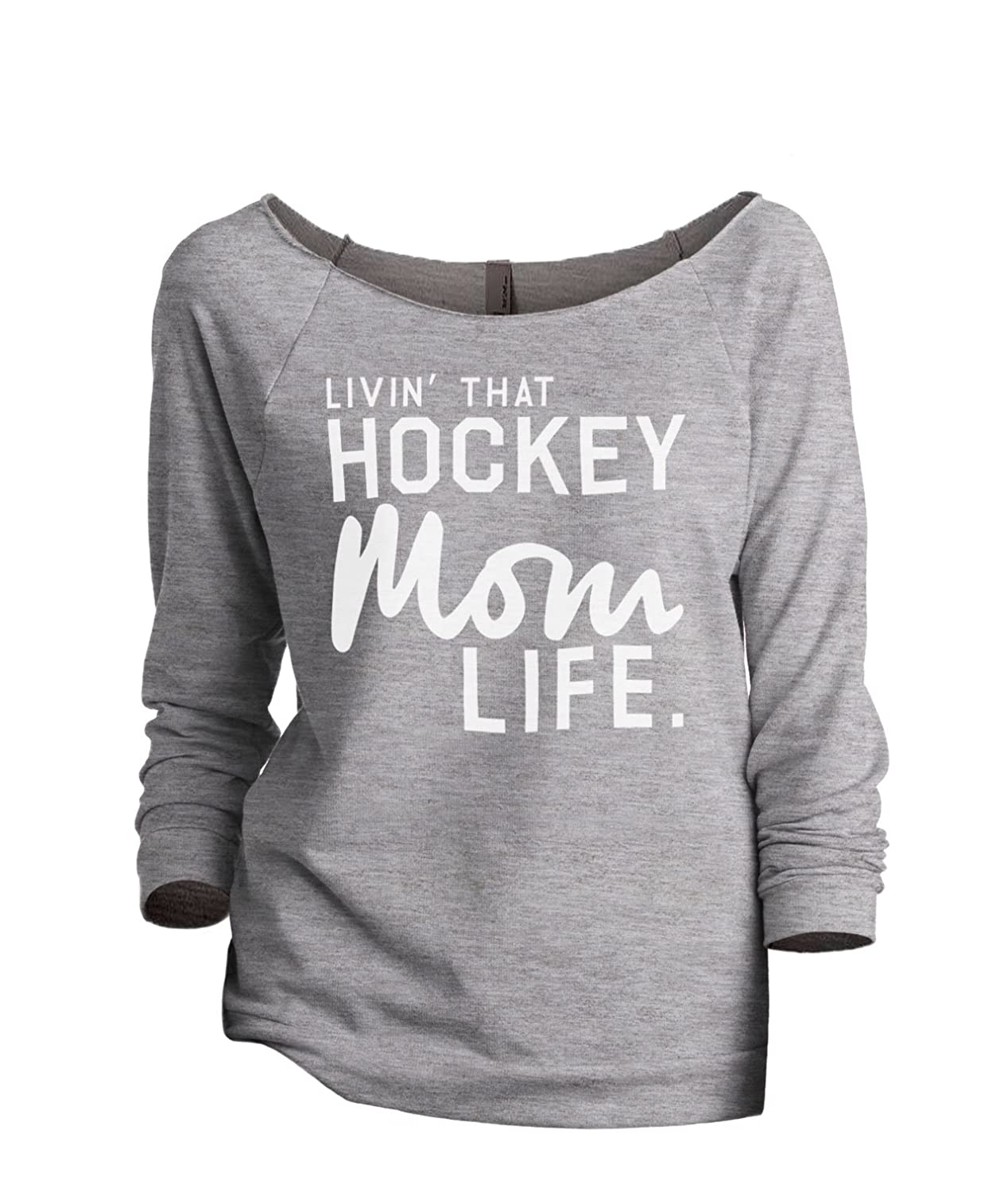 Thread Tank Livin' That Hockey Mom Life Women's Fashion Slouchy...