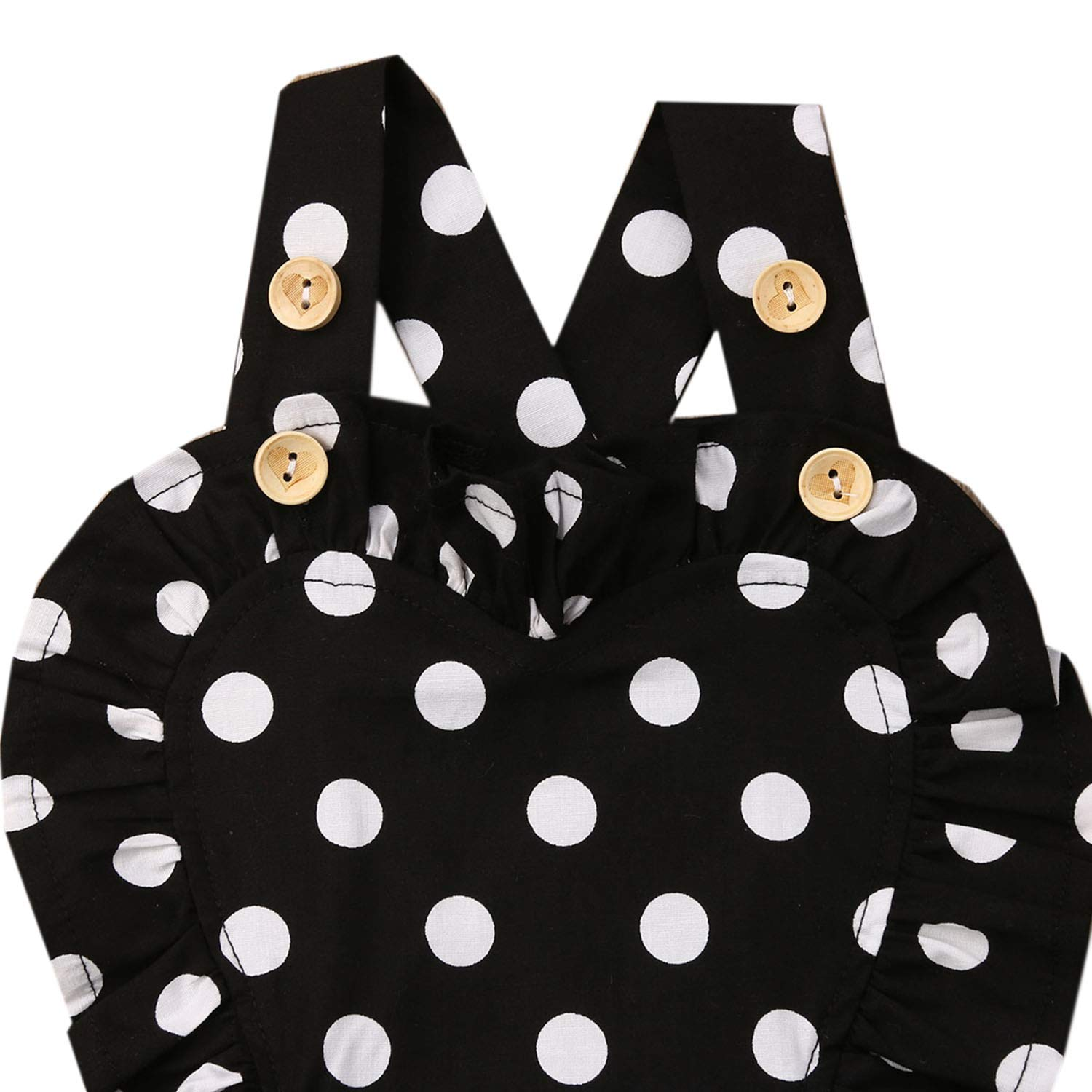 Styles I Love Infant Baby Girl Polka Dots Cross Back Cotton Sunsuit Romper Summer Casual Outfit