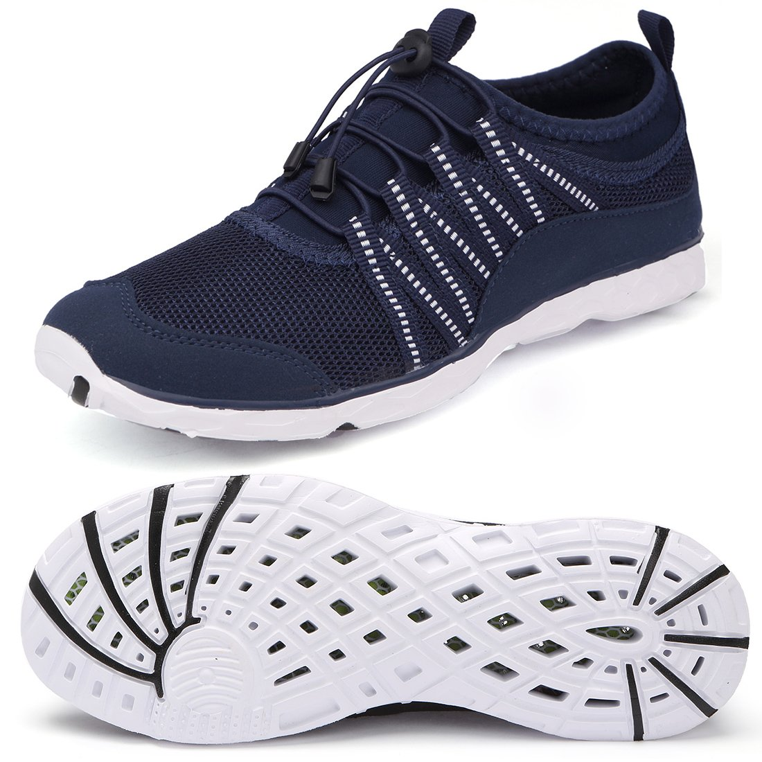 Quick-Drying Water Barefoot Shoes Aqua Shoes Aqua Yoga Socks for Men Water Sports Beach Navy/White 41 EU