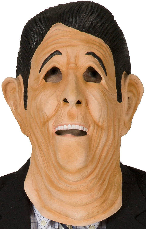 Amazon 80stees Point Break Ronald Reagan Mask Tan Clothing