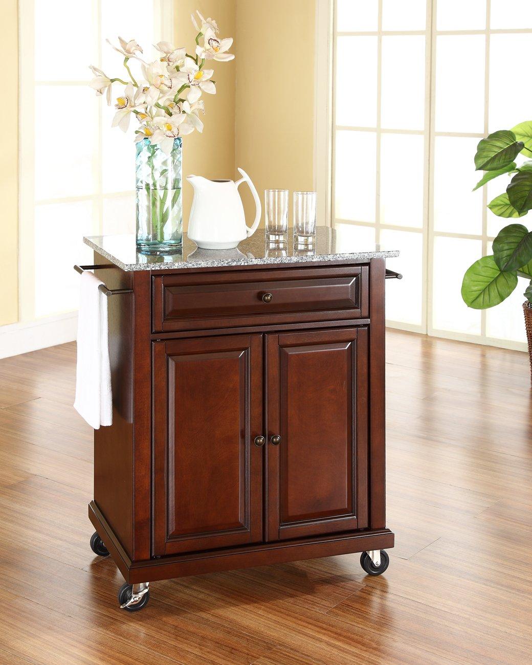 Crosley Furniture Cuisine Kitchen Island with Natural Wood Top - Black Crosley Furniture - DROPSHIP KF30021EBK