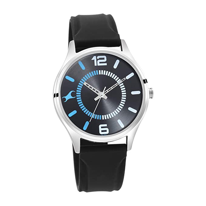 Fastrack Analog Black mens Watch 3229SP02 Men's Watches