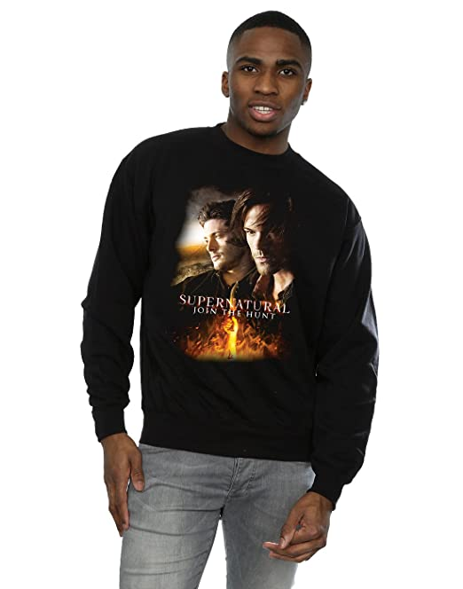 Supernatural Hombre Flaming Poster Camiseta tyYgBQpIe8