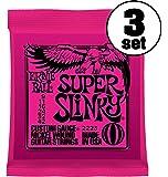 【正規品】 ERNIE BALL ギター弦 スーパー (09-42) 3セット 2223 SUPER SLINKY 3SET
