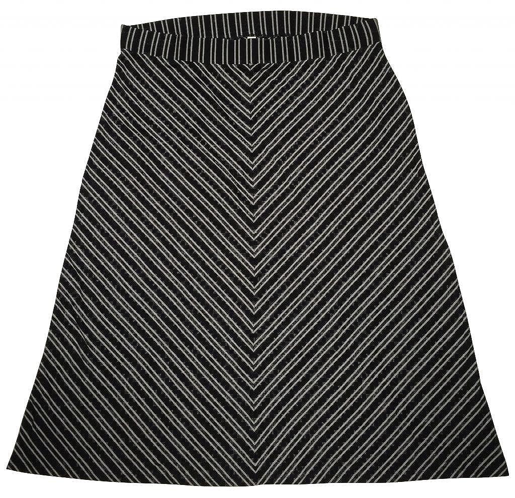 3e9f9b77a0a Black And White Striped Maxi Skirt Plus Size - Gomes Weine AG