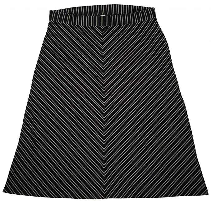 7270a1ab9c2 Old Navy Women s Maxi Skirt Plus Size 4X Black Gray Stripe  Amazon.ca   Clothing   Accessories