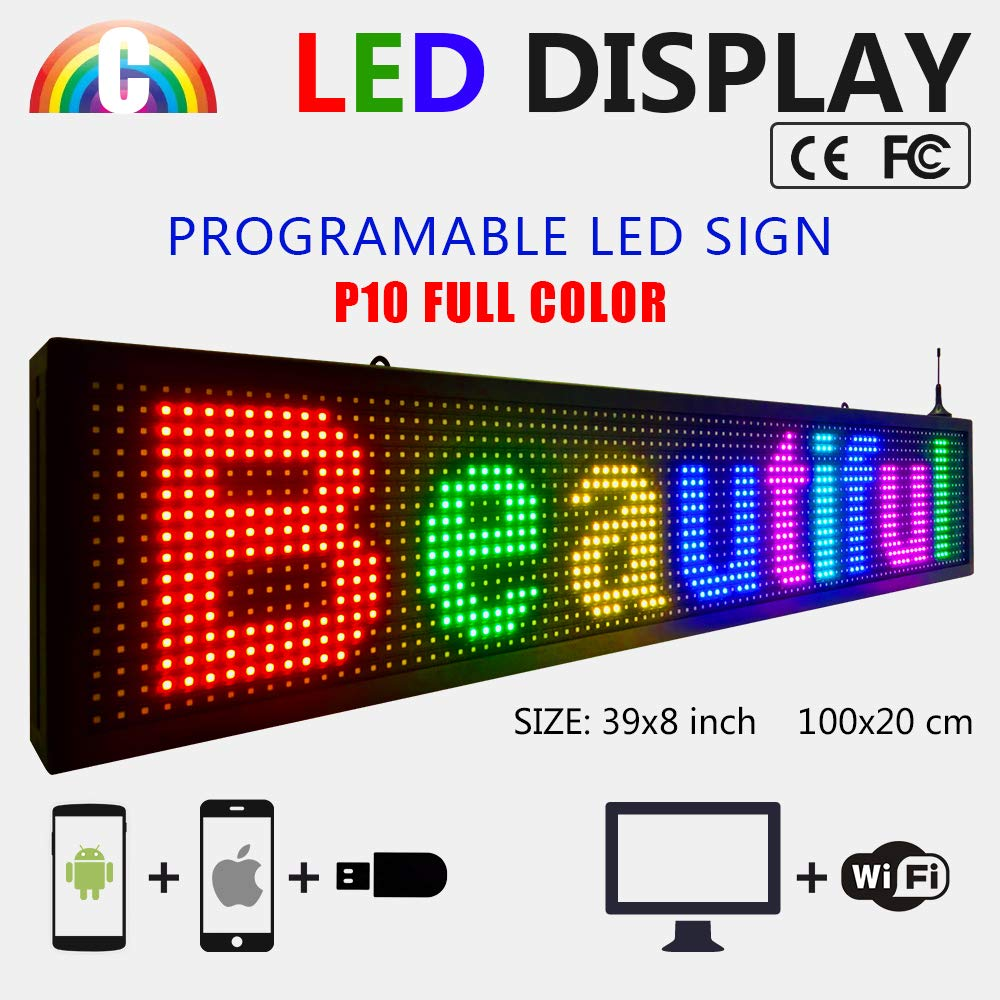 CT Colorful P10 Outdoor WiFi Scrolling Texts Messages Board led Sign by Color Trade