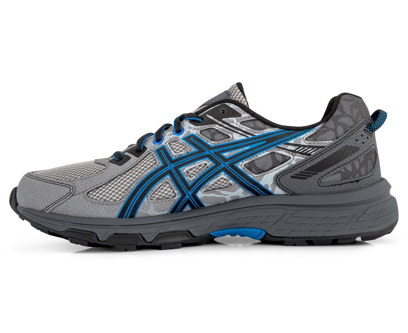 ASICS Mens Gel-Venture 6 Running Shoe, Aluminum/Black/Directoire Blue, 12.5 by ASICS