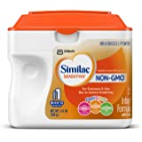 Similac Sensitive Infant Formula with Iron, Stage 1  Non-GMO, Powder, 22.56 Ounces (Pack of 6)