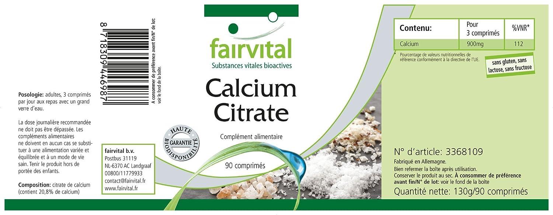 Calcio Citrato con 300 mg Calcio - 90 Pastillas - Substance ...