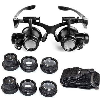 Starcrafter 10 x 15 x 20 x 25 x Gafas de ojo de lupa lupa LED de ... a0cc0ba332da