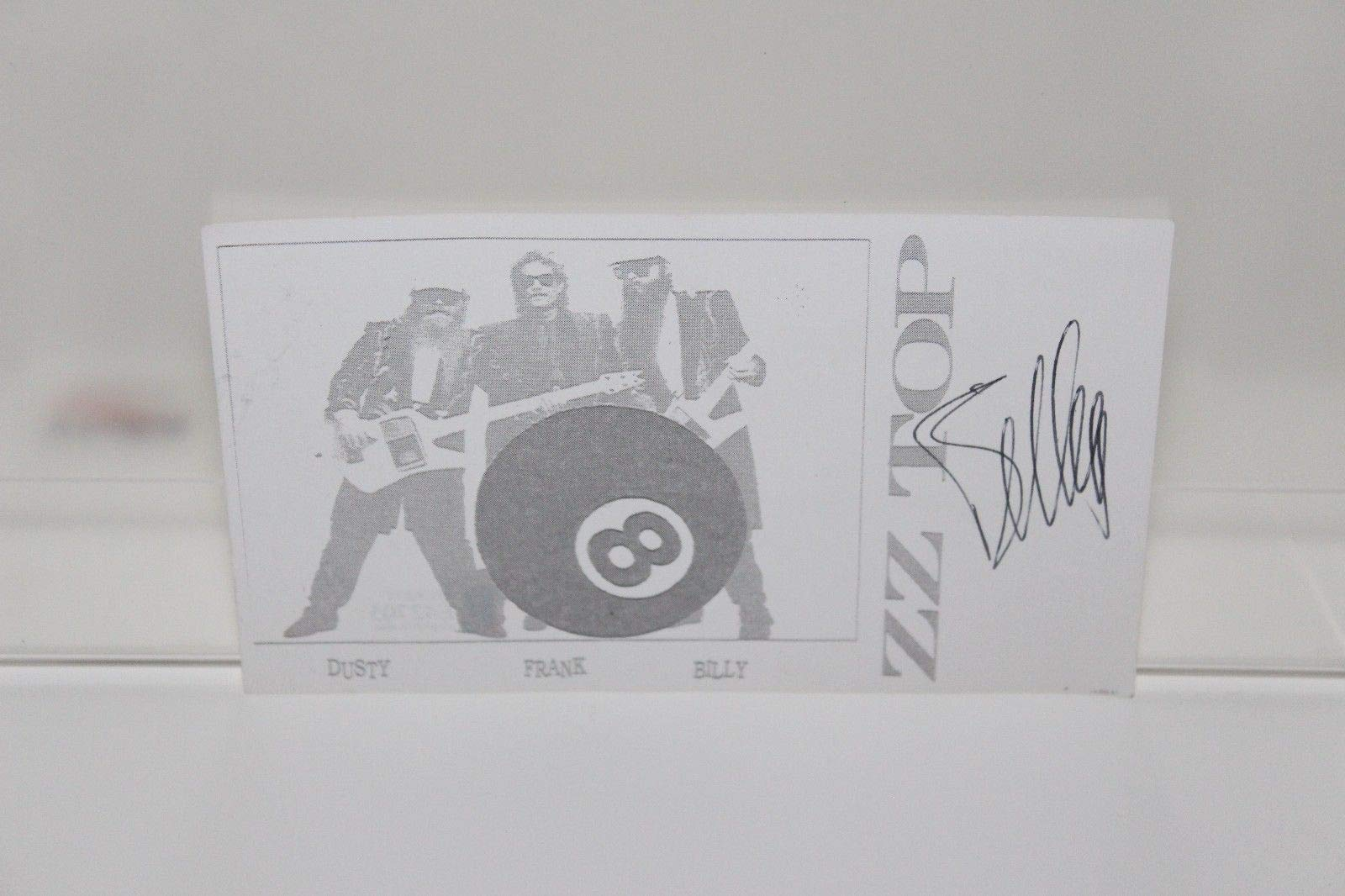 Billy Gibbons Zz Top Autographed Signed Ticket Backstage Pass Lot Collection Beckett Authentic