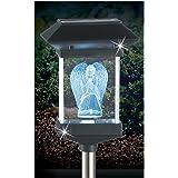 "Crystal Light 14"" Solar LED Memorial 3D Guardian Angel by JUMBL"