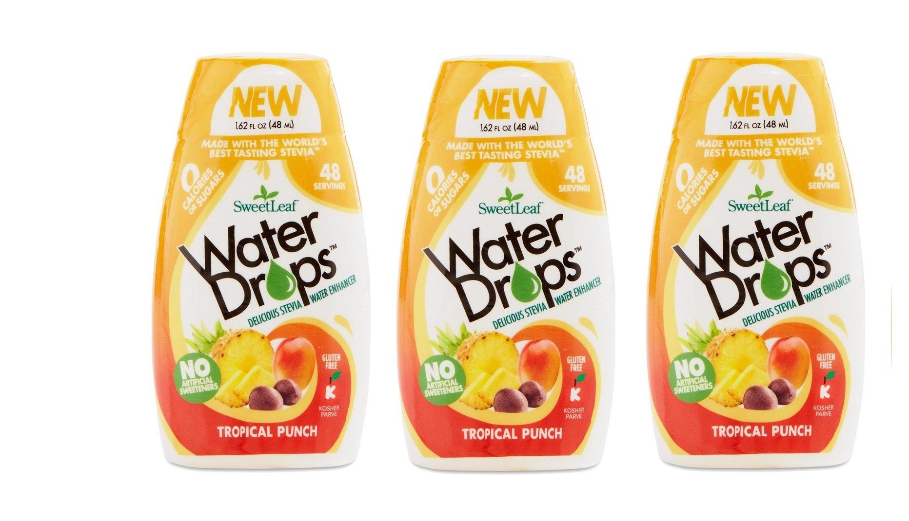 Sweetleaf Water Drops 1.62 fl.oz. 3 Pack (Tropical) by SweetLeaf