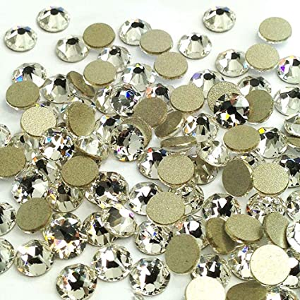 0e4700958b15 Image Unavailable. Image not available for. Color  LWCUS 288pcs Crystal  Clear Swarovski-Grade No-Hotfix ...