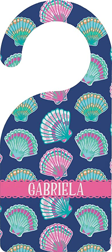 fb92ecf49456 Image Unavailable. Image not available for. Color  YouCustomizeIt Preppy  Sea Shells Door Hanger (Personalized)