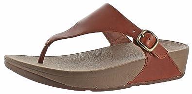 da49d915f15c77 fitflop Women s The Skinny Cork Leather Flip Flop  Amazon.ca ...