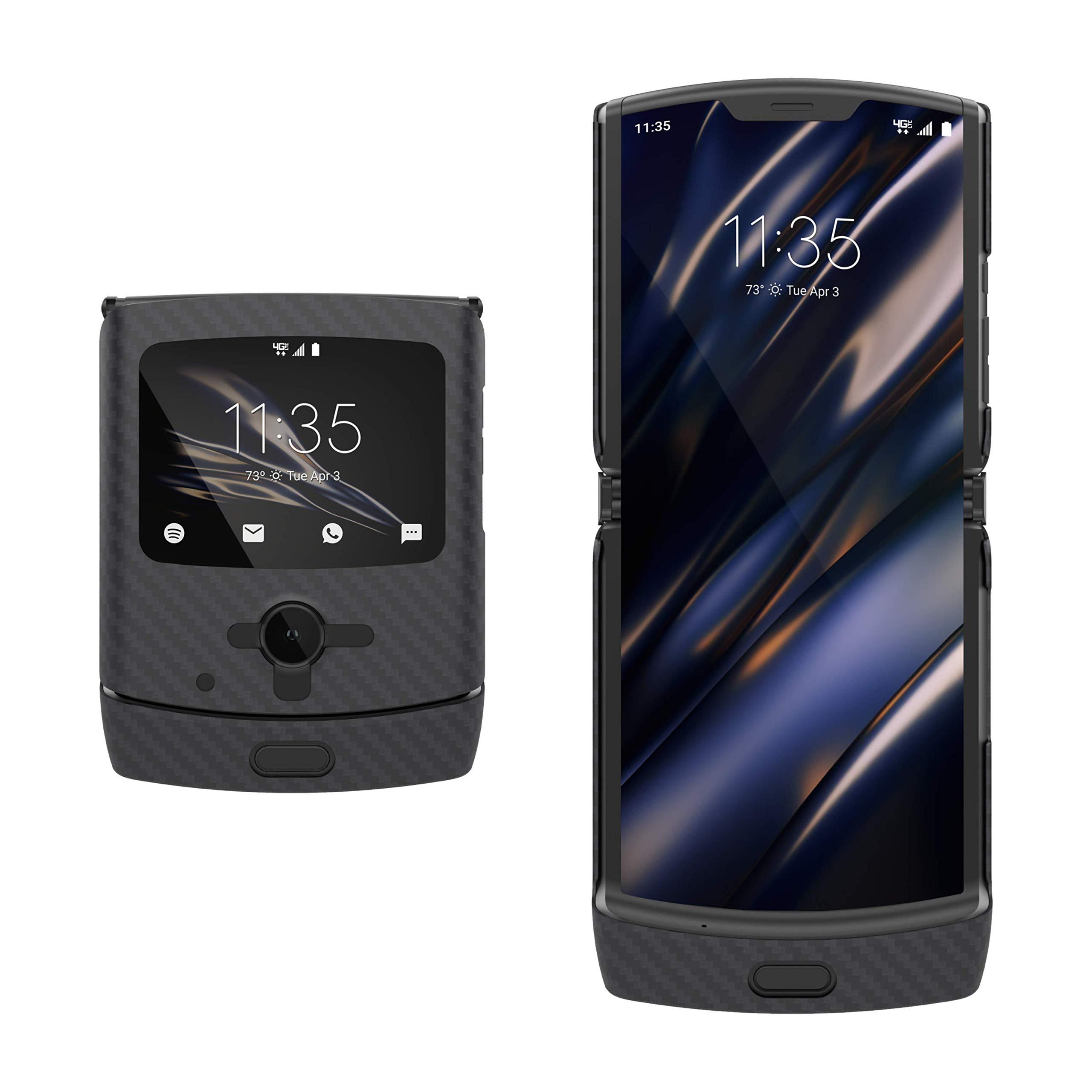 Evutec Compatible with Motorola Razr Case(2019), Aramid Fiber Cases Cover for Moto Razr(Black)