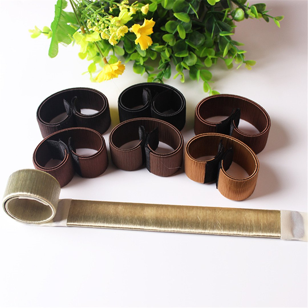1Pc Girl Hair Styling Tools Foam French Tool DIY Hair Styling Tools Roller Styling Tool Brown 3 by HAHUHERT (Image #3)