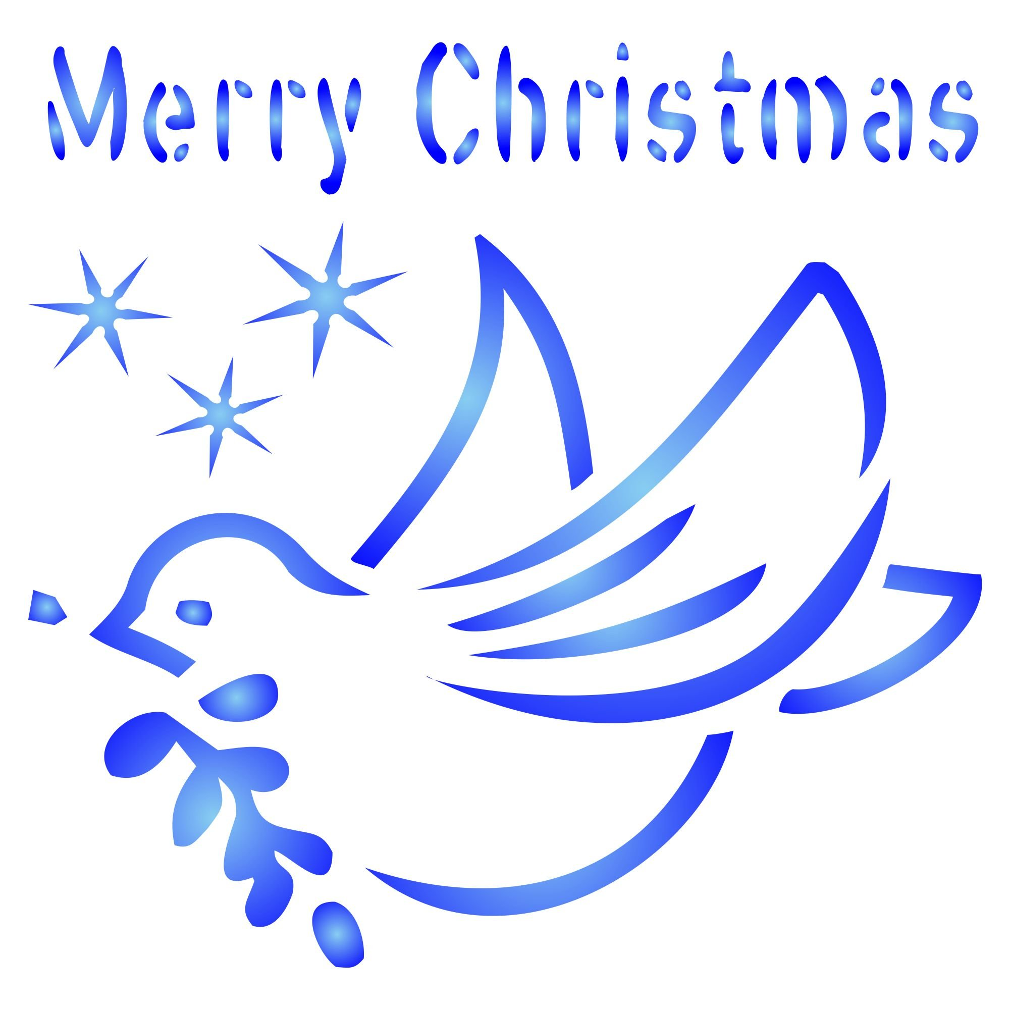 """Christmas Dove Stencil (size 5""""w x 5""""h) Reusable Stencils for Painting - Best Quality Christmas Project Ideas - Use on Walls, Floors, Fabrics, Glass, Wood, Cards, and More…"""