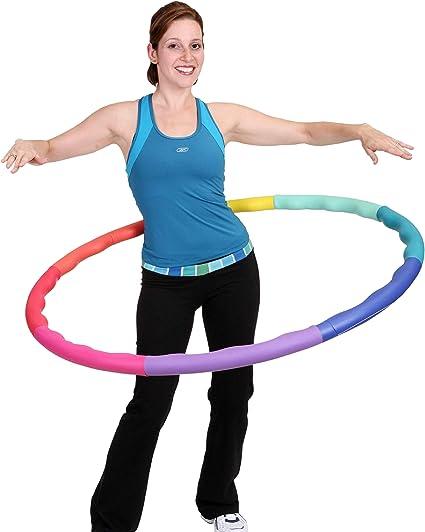 Coriver Fitness Hoola Hoop,Detachable Exercise Hoop Wave Design Weight loss Hoop Training Hoop Sports Hoop Eight-Section Foam Hula Ring Gymnastics Hoop with Waist Ruler