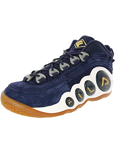 fc0a0974ab Amazon.com | Fila White/French Navy/Blue Bubbles Sneakers | Shoes