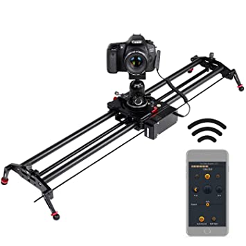 Motorized Camera Slider, ASHANKS App Control Time Lapse Functionality and  Focus Track Shot Video Recording for DSLR and Sony Alpha Cameras  31